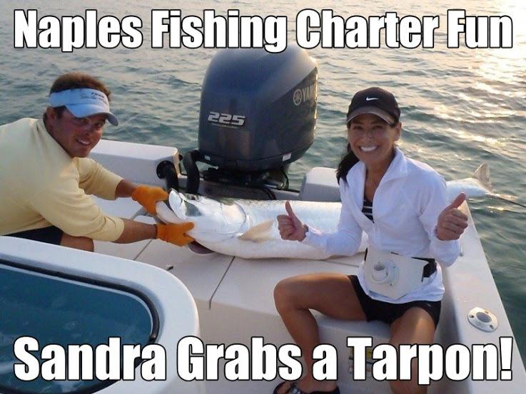Naples Fishing Charter Trip of Sandra Catching Fish